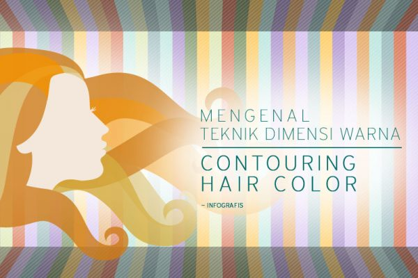 teknik dimensi warna contouring hair color