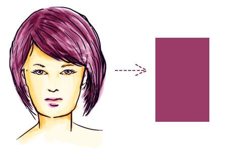 model rambut sesuai bentuk wajah persegi panjang