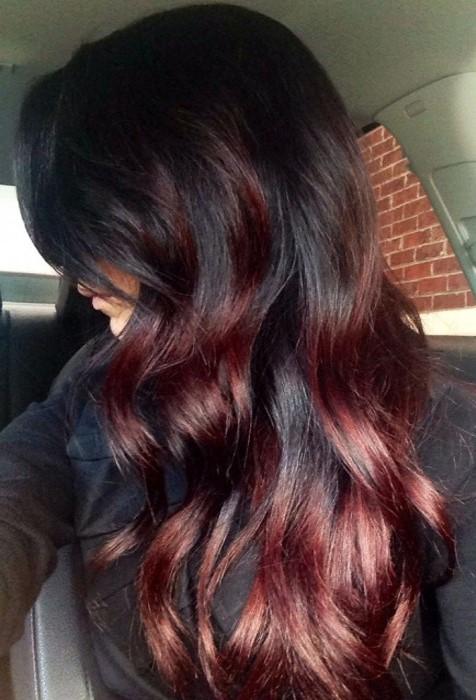 warna rambut februari mahogany