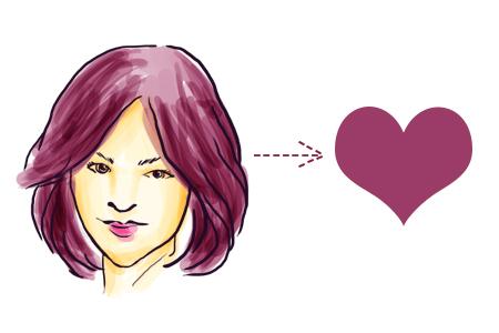 model rambut sesuai bentuk wajah hati
