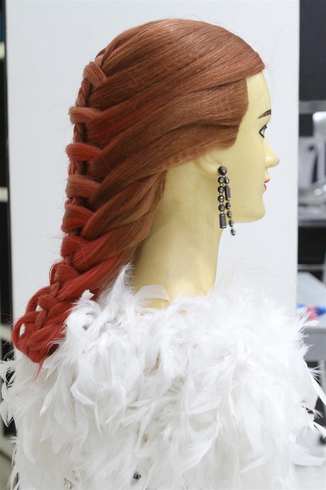 tutorial kepang rambut tampak samping