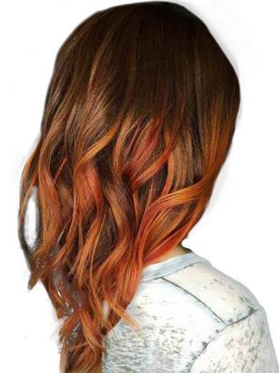 tren warna rambut cooper brown