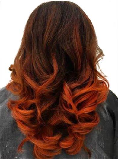 tren warna rambut copper goes ombre