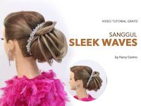 Tutorial sanggul modern sleek waves dari makarizo